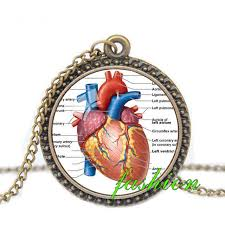 gothic steampunk necklace images Online shop steampunk jewelry anatomical heart pendant gothic jpg