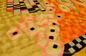 Orange Modern Rug by Klimt Orange Green Rugs Abstract Wall Hangings Accent Carpets Hand
