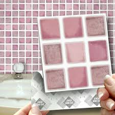 18 dusky pink effect wall tiles 2mm thick and solid self