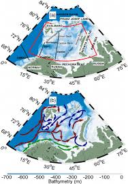 Map Of The Red Sea A Barents Sea Map With Bathymetry The Red Line De Limits The
