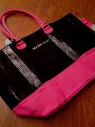victoria secret tote bag black friday nwt victorias secret tote bag sequin bling pink black friday