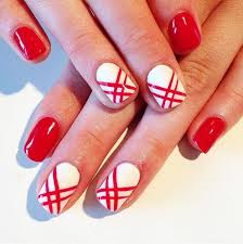 best 25 red and white nails ideas on pinterest red nail art