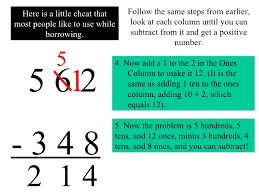 regrouping with subtraction