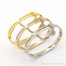 bracelet love price images Luxury brand punk jewelry men stainless steel women gold bangle jpg