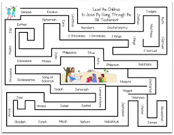 printable old testament books of the bible maze also ot coloring