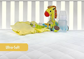 Crib Mattress Fitted Sheet Waterproof Crib Mattress Protector Pad Cover Ultra Soft Bamboo