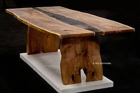 Raw Edge Table by Earl Nesbitt Earl Nesbitt Fine Furniture Edgewood Nm