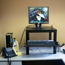 Standing Ikea Desk by Homemade Standing Desk Showcases Creative Idea That Helps You