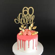 60th anniversary cake topper 60 years loved cake topper 60th birthday cake topper happy 60th