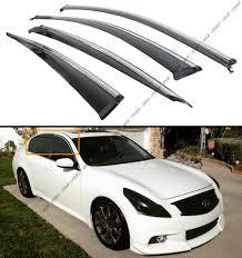 jdm oem lexus window visors clip on type smoke window visor w chrome trim for 07 15 infiniti
