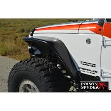 armored jeep wrangler unlimited poison spyder 17 03 030p1 wrangler jk fender flare crusher