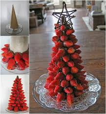 chocolate dipped strawberry christmas tree diy cozy home