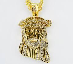 jesus hip hop necklace images 2015 new hip hop jesus christ piece pendant necklace with corn jpg