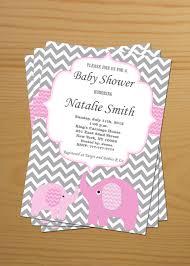 baby shower invitation elephant baby shower invitation