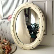 Shabby Chic Large Mirror by Large Vintage Oval Mirror Cream From Willowsendcottage On Etsy