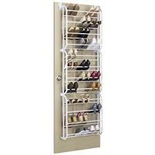 Shoe Cabinet Amazon Amazon Com Whitmor 36 Pair Otd Shoe Rack White Home U0026 Kitchen