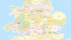 Map England by Digital Uk Simple County Administrative Map 5 000 000 Scale