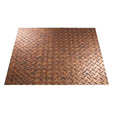 Decorative Vinyl Floor Mats by Fasade Diamond Plate 96 In X 48 In Vinyl Decorative Wall Panel