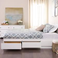 winslow white queen platform storage bed free shipping today