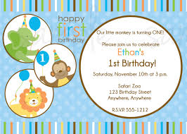 one year old birthday invitation wording free printable