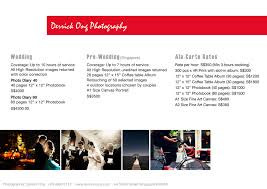 Wedding Photographers Prices Derrick Ong Wedding Photography Price List 2016 Wedding