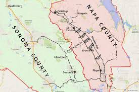 Napa Wine Map Wine Country Map Sonoma And Napa Valley