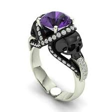 skull engagement rings best amethyst skull products on wanelo