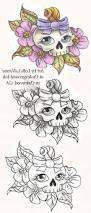 girly skull with bow tattoo skecth tattoo art design ideas