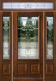 Exterior Door With Side Lights Residential Steel Doors Front Door With Transom Above Exterior