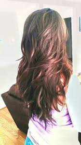 front and back views of chopped hair 18 freshest long layered hairstyles with bangs face framing