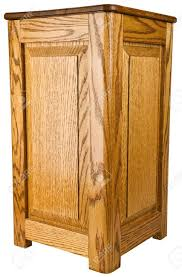 Oak Pedestal Table Solid Oak Wood Pedestal End Table Stand Stock Photo Picture And