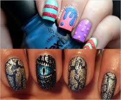 glitter chevron gel nail art designs top 10 top 10 nail art