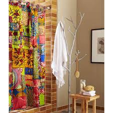 african print shower curtain vivaterra