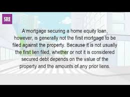 is a home equity loan a lien