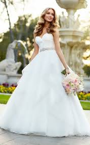 designer wedding dresses gowns strapless organza gown wedding dress stella york