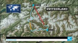 The Alps On World Map by World U0027s Longest Tunnel Switzerland Inaugurates 57 1 Km Rail Route