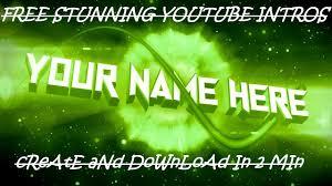 free youtube intro maker free intro maker no watermark 2017