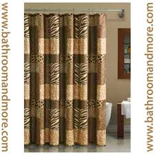 Zebra Shower Curtain by Popular Bath Safari Stripe Fabric Chocolate Brown Animal Leopard