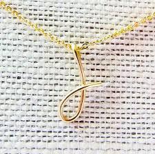 curisve j letter j necklace gold initial necklace cursive letter