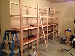 Woodworking Wall Shelves Plans by How To Build Sturdy Garage Shelves Home Improvement Stack