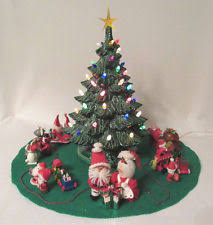 vintage nowell mold ceramic christmas tree ebay