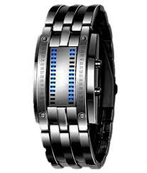 bracelet watches led images Pappi boss metallic black chain led bracelet watch for men buy jpg