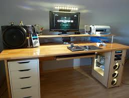 Pc Tisch Schmal Schreibtisch Selber Bauen Bauanleitung Saigonford Info