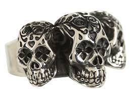 baby king rings images Lyst king baby studio day of the dead triple skull ring in jpeg