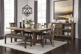 Dining Room Table Set With Bench Signature Design By Ashley Tamilo Rectangle Dining Room Table With