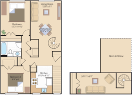 open floor plans with loft 2 bedroom apartments in southeast dc heights apts