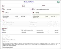 Parse Resume Example by Dreamode Recruiting Software