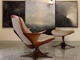 Functionality And Creative Elegance Kinesis Chair And Ottoman - Ergonomic living room chair