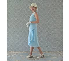light blue tea dress light blue 1920s inspired flapper dress with drape and bow