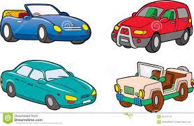 cartoon convertible car jeep suv convertible car stock vector image 25114179